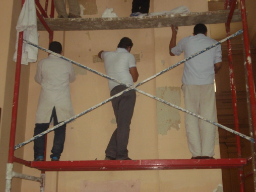 أعمال الترميم داخل المتحف المصرى بالتحرير (4)