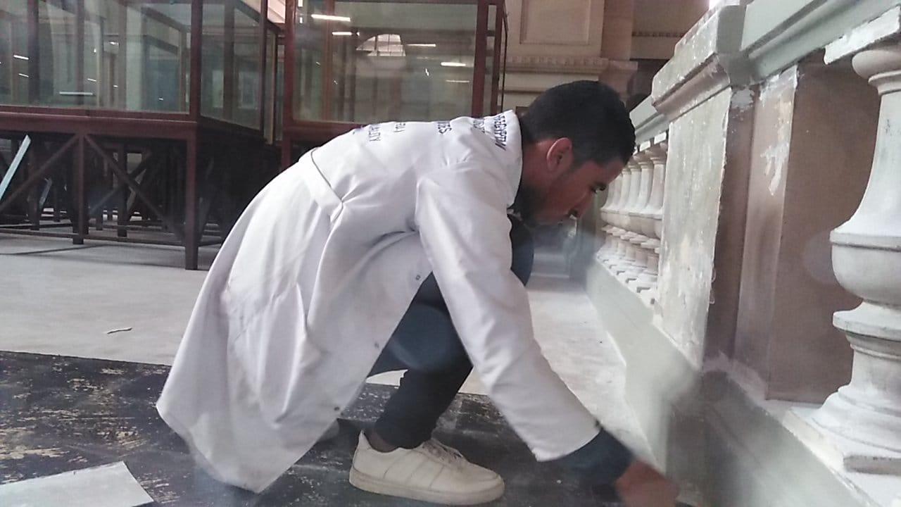 أعمال الترميم داخل المتحف المصرى بالتحرير (3)