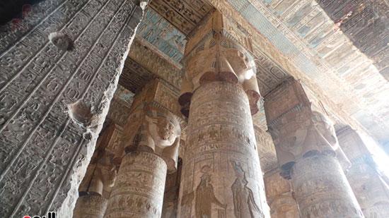 10-جدران-معبد-دندرة-بقنا