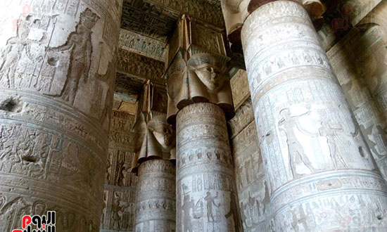 6-جدران-معبد-دندرة
