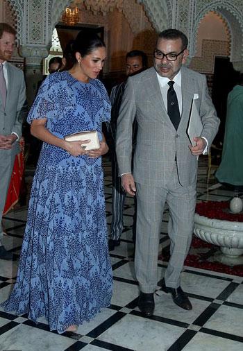 الملك محمد السادس مع ميجان ماركل (2)