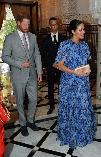 الامير هارى وزوجته فى منزل العاهل المغربى