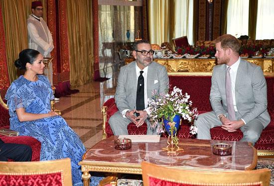 الأمير هارى وزوجته فى استضافة الملك فى منزله الخاص (3)