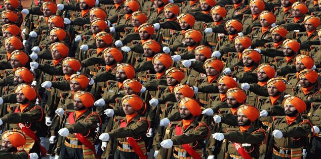 الجيش الهندى أحد أكبر الجيوش فى العالم من حيث العدد