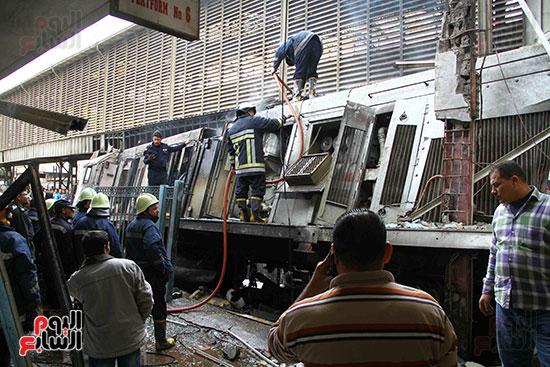 بالصور القصة الكاملة لأسباب حادث حريق محطة مصر 90400-حريق-مح�
