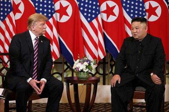 جانب من القمة الأمريكية الكورية الشمالية