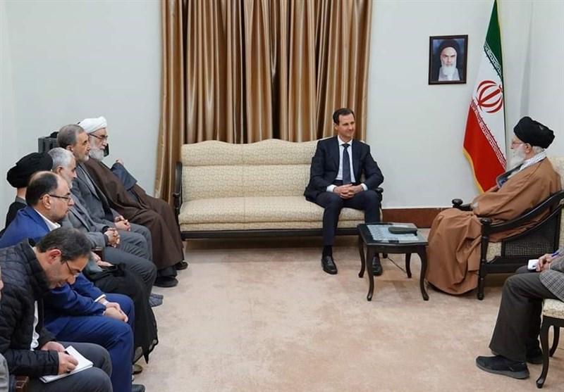 لقاء بشار الاسد فى حضور سليمنانى وغياب حسن روحانى