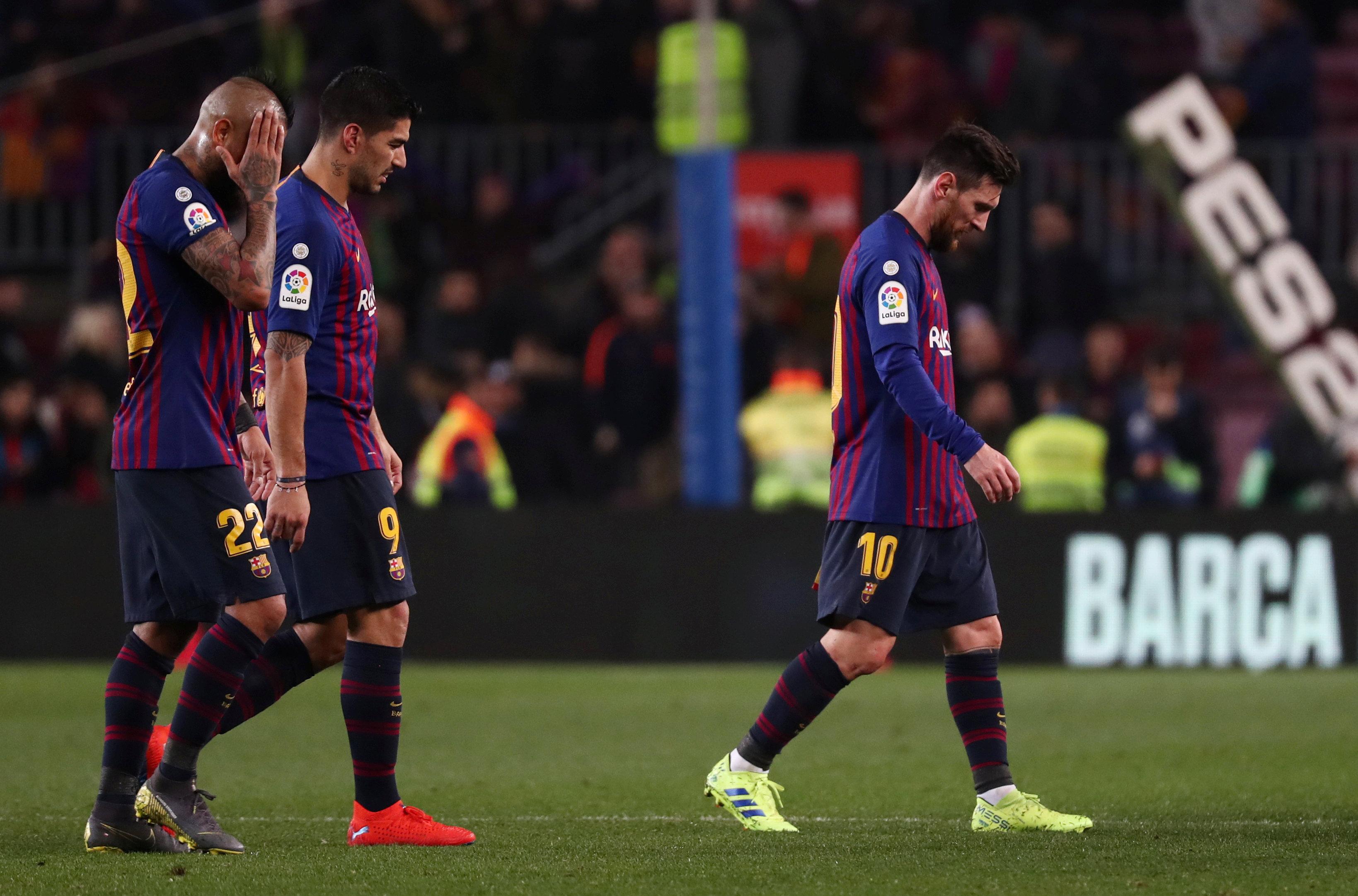 حزن نجوم برشلونة على التعادل
