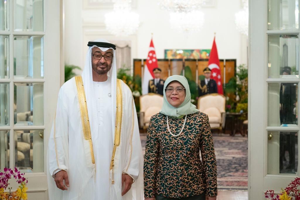 رئيسة سنغافورة تستقبل ولى عهد أبوظبى محمد بن زايد (8)