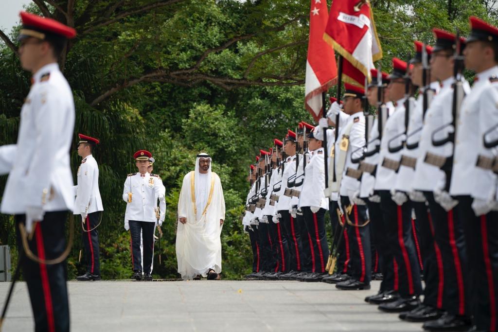 رئيسة سنغافورة تستقبل ولى عهد أبوظبى محمد بن زايد (4)