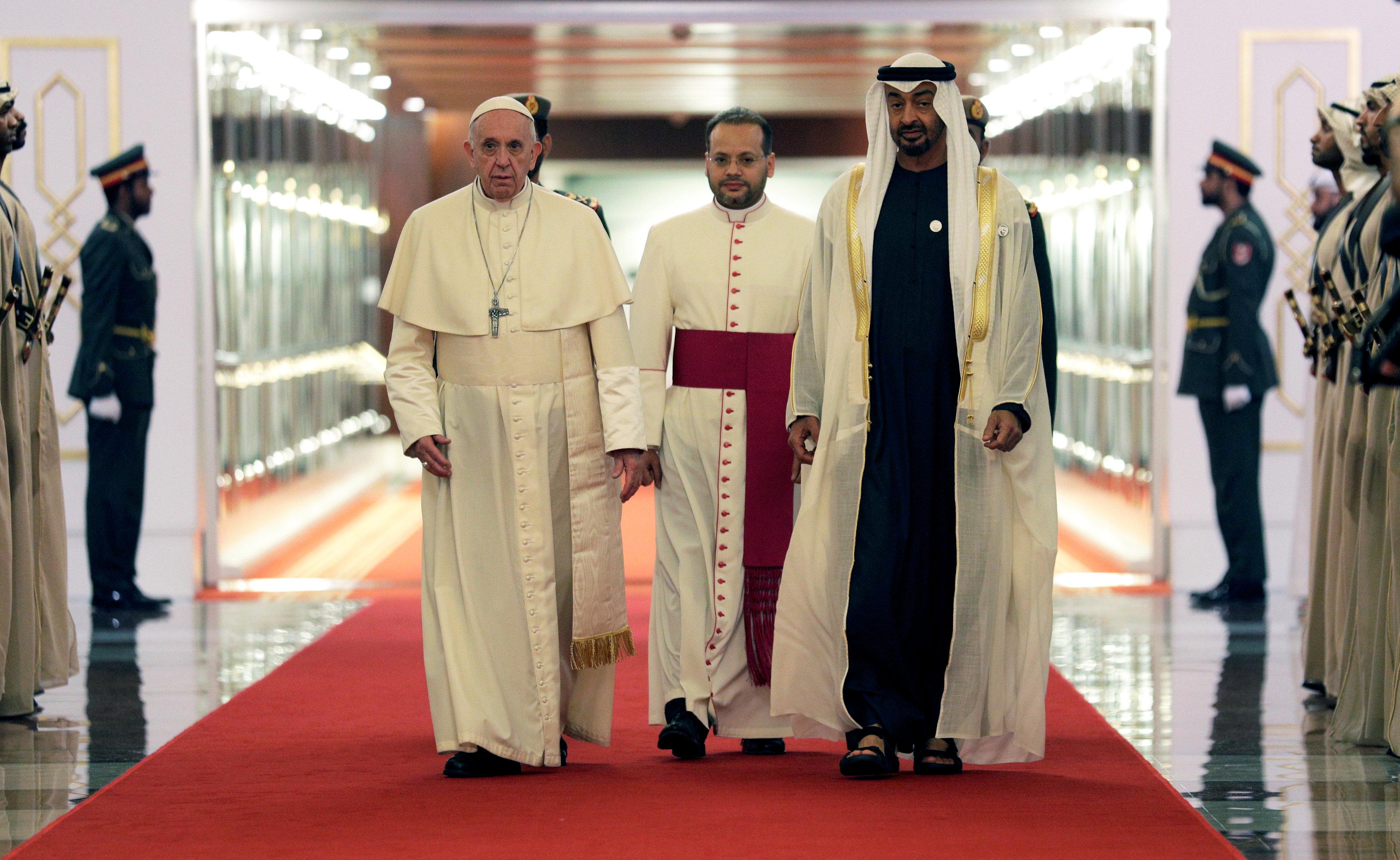 بابا الفاتيكان والشيخ محمد بن زايد