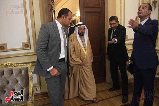 الشيخ سلطان القاسمى خلال زيارته لجامعة القاهرة (30)