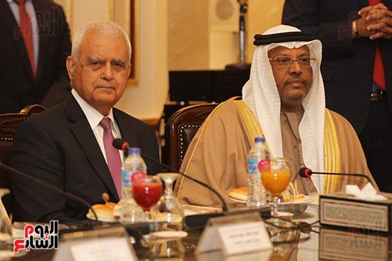 الشيخ سلطان القاسمى خلال زيارته لجامعة القاهرة (13)