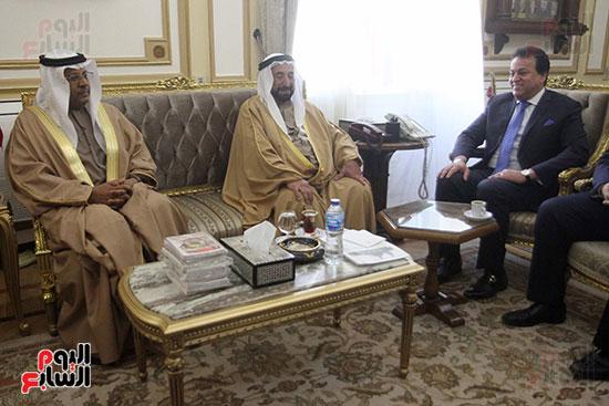 الشيخ سلطان القاسمى خلال زيارته لجامعة القاهرة (4)