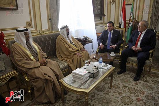 الشيخ سلطان القاسمى خلال زيارته لجامعة القاهرة (3)