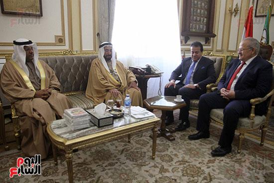 الشيخ سلطان القاسمى خلال زيارته لجامعة القاهرة (5)