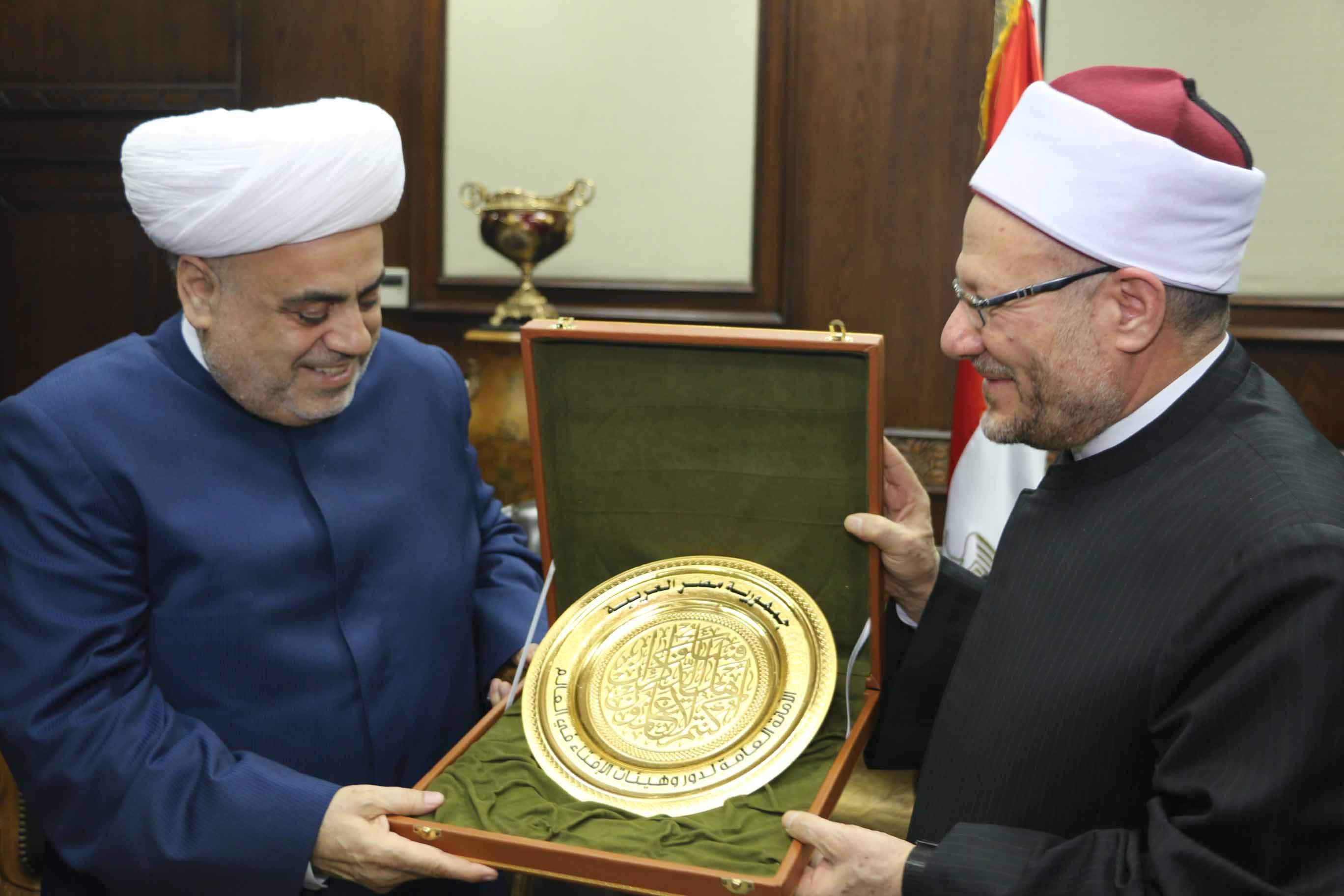 مفتي الجمهورية يستقبل شيخ الإسلام لمنطقة القوقاز  (5)