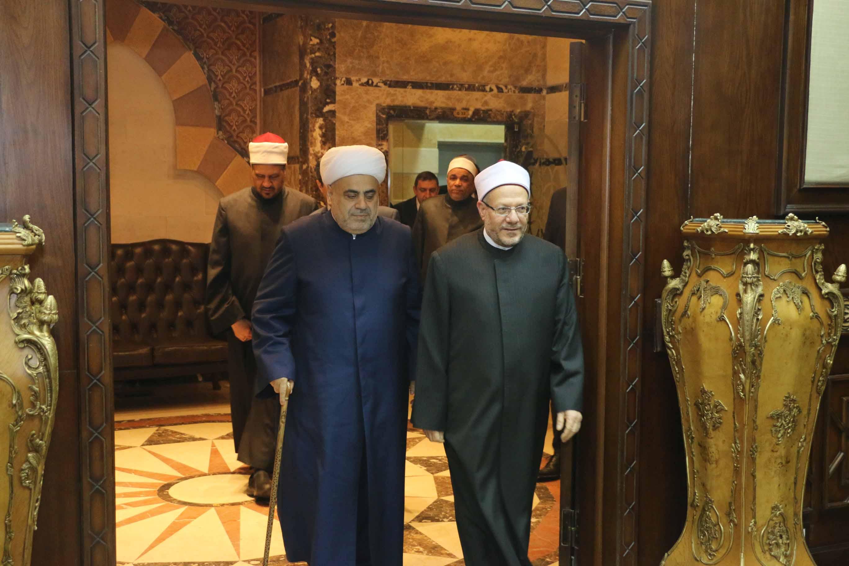 مفتي الجمهورية يستقبل شيخ الإسلام لمنطقة القوقاز  (1)