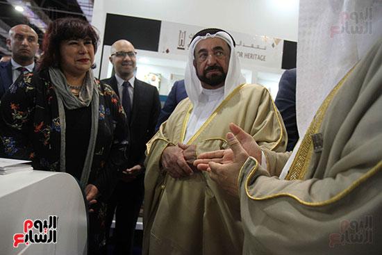 الشيخ سلطان القاسمى فى معرض الكتاب (3)