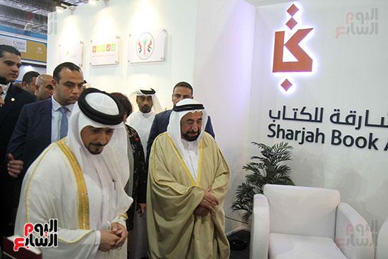 الشيخ سلطان القاسمى فى معرض الكتاب (2)