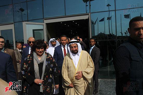 الشيخ سلطان القاسمى فى معرض الكتاب (1)
