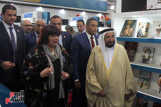 الشيخ سلطان القاسمى فى معرض الكتاب (7)