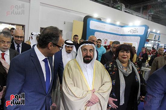 الشيخ سلطان القاسمى فى معرض الكتاب (50)