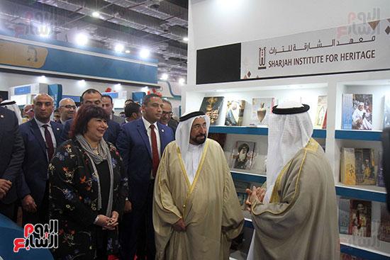 الشيخ سلطان القاسمى فى معرض الكتاب (5)