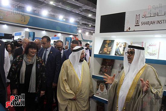 الشيخ سلطان القاسمى فى معرض الكتاب (8)