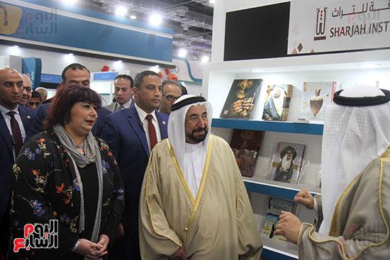 الشيخ سلطان القاسمى فى معرض الكتاب (6)