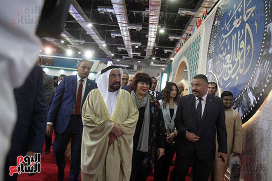 الشيخ سلطان القاسمى فى معرض الكتاب (9)