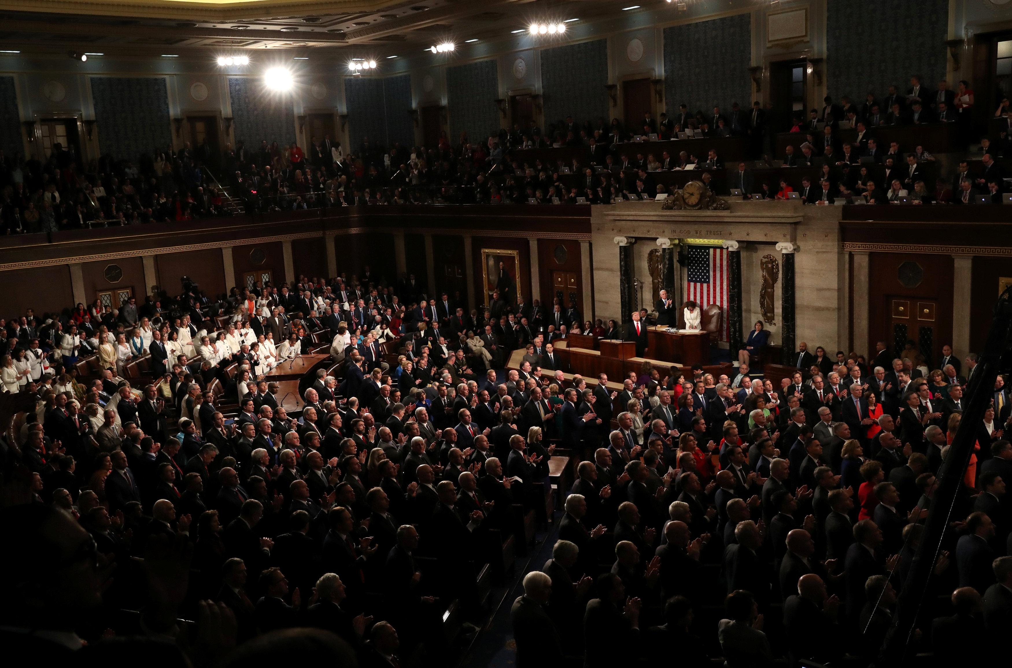 الكونجرس أثناء خطاب الرئيس الأمريكى