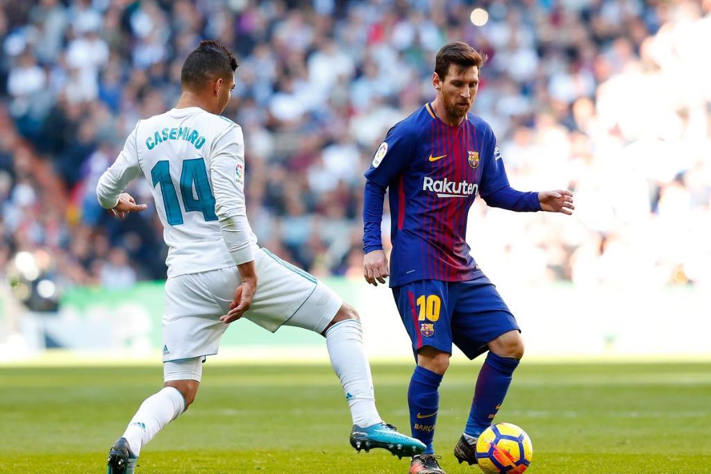 جانب من مباراة الكلاسيكو بين برشلونة ضد ريال مدريد