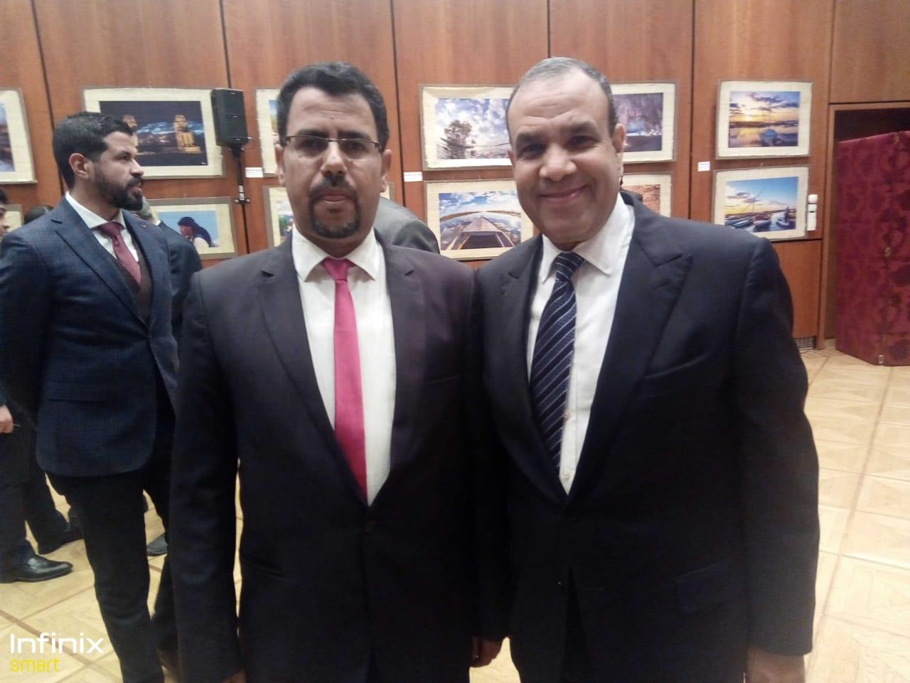 عبد الحليم سالم والسفير بدر عبد العاطى