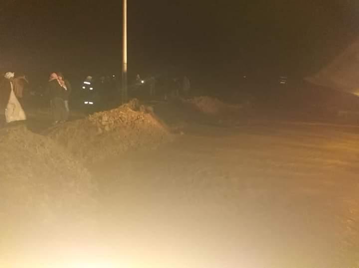 سقوط أمطار رعدية غزيرة وثلوج على رأس غارب وإغلاق طريق الزعفرانة (5)