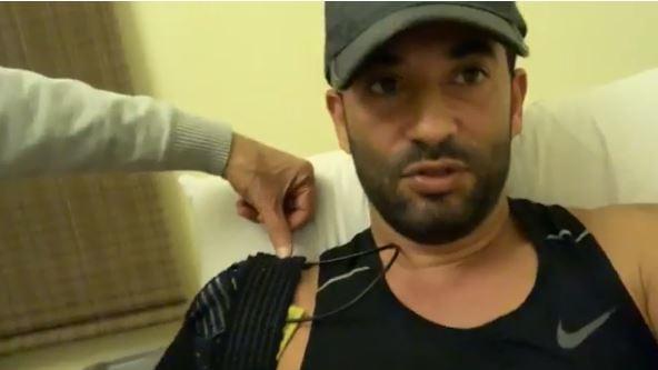 عمرو سعد يتعرض لإصابة فى الكتف خلال تدريبه على حملة فرعون