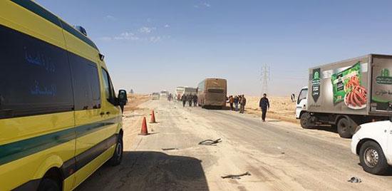 حادث تصادم بطريق شرم الشيخ (1)