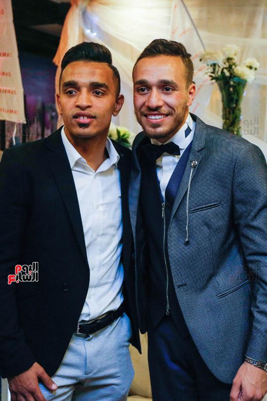 نجوم الزمالك فى حفل خطوبة محمد عنتر و دنيا الحلو (39)