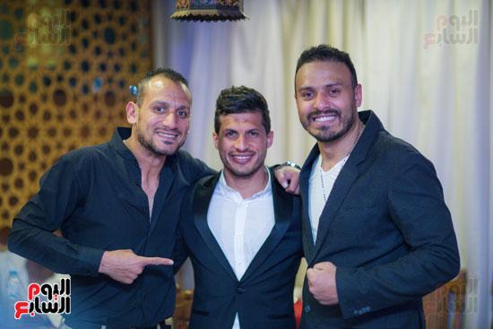 نجوم الزمالك فى حفل خطوبة محمد عنتر و دنيا الحلو (74)