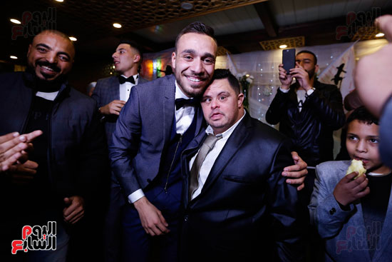 نجوم الزمالك فى حفل خطوبة محمد عنتر و دنيا الحلو (10)