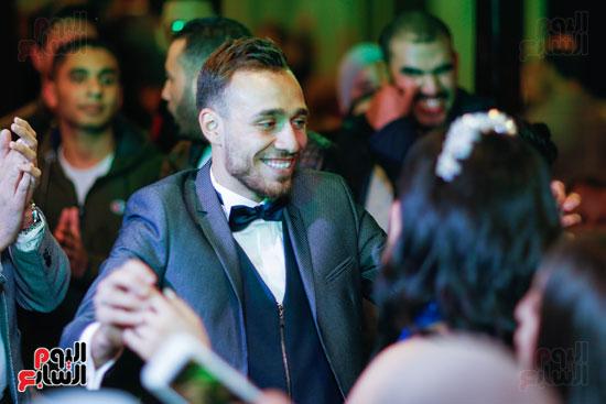نجوم الزمالك فى حفل خطوبة محمد عنتر و دنيا الحلو (66)