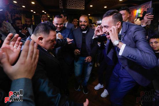 نجوم الزمالك فى حفل خطوبة محمد عنتر و دنيا الحلو (11)