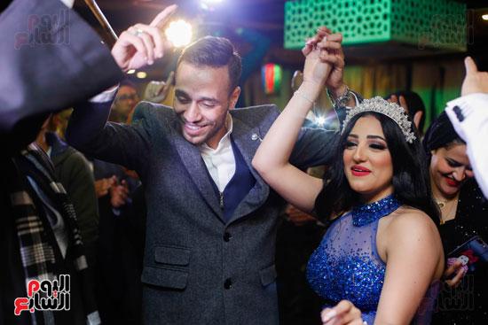 نجوم الزمالك فى حفل خطوبة محمد عنتر و دنيا الحلو (82)