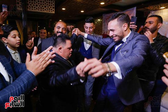 نجوم الزمالك فى حفل خطوبة محمد عنتر و دنيا الحلو (9)
