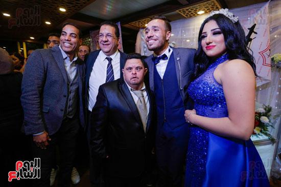 نجوم الزمالك فى حفل خطوبة محمد عنتر و دنيا الحلو (30)