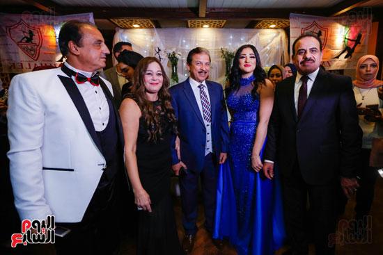 نجوم الزمالك فى حفل خطوبة محمد عنتر و دنيا الحلو (14)