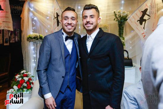 نجوم الزمالك فى حفل خطوبة محمد عنتر و دنيا الحلو (41)