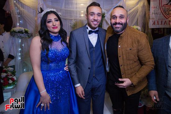 نجوم الزمالك فى حفل خطوبة محمد عنتر و دنيا الحلو (51)