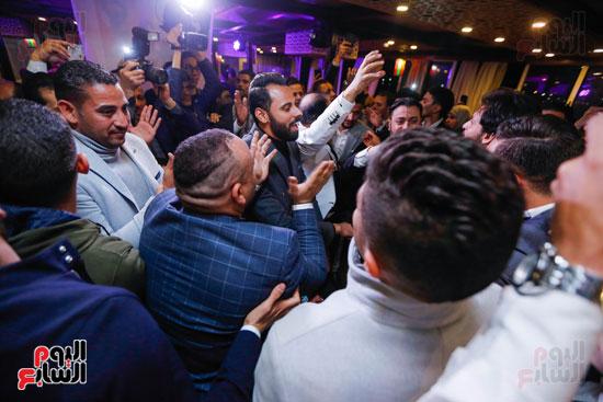نجوم الزمالك فى حفل خطوبة محمد عنتر و دنيا الحلو (18)