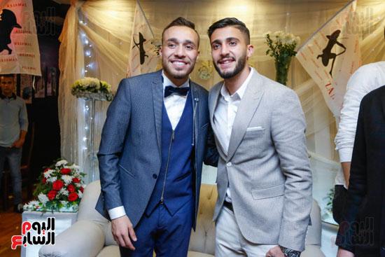 نجوم الزمالك فى حفل خطوبة محمد عنتر و دنيا الحلو (40)